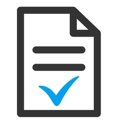Valid Document Icon vector