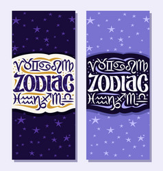 Vertical banners for zodiac symbols vector