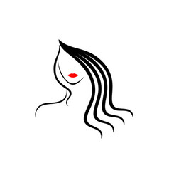 women beautiful face logo vector image