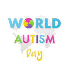 world autism awareness day banner bright design vector image