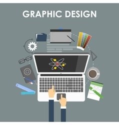 Concept for graphic design vector image