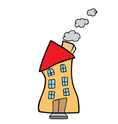 house doodle vector image vector image
