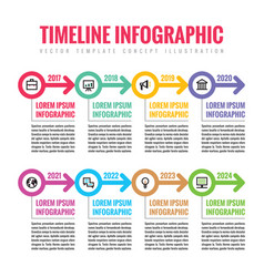 infographic business concept in flat style vector image vector image