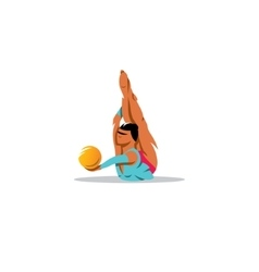 Rhythmic Gymnastics girl with ball sign vector image vector image