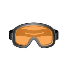 ski sport goggles in dark design vector image vector image