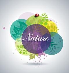 Spring or Summer Floral Background vector image vector image
