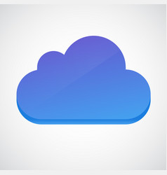 cloud 3d glossy icon symbol vector image vector image