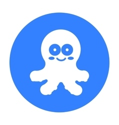 Octopus black icon for web and vector image