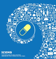 pill icon Nice set of beautiful icons twisted vector image