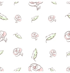 roses and leaves vector image
