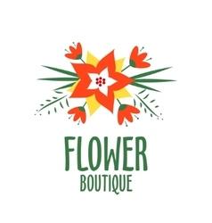 vecror logo for a flower shop Bright bouquet vector image vector image