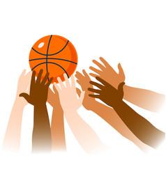 basketball game moment closeup vector image