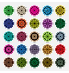 Bicycle wheels sticker vector image vector image