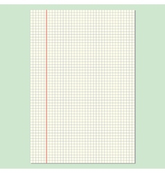 Checkered Sheet vector image vector image