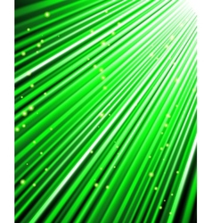 stars are falling on the background of green rays vector image