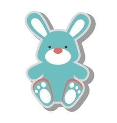 teddy bunny toy icon vector image vector image