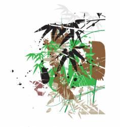 tropical garden greens vector image vector image