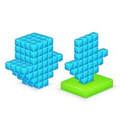 3D arrow download vector image vector image