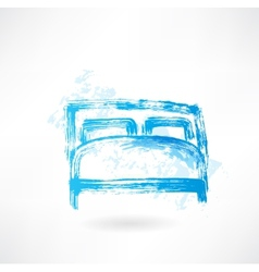 bed grunge icon vector image