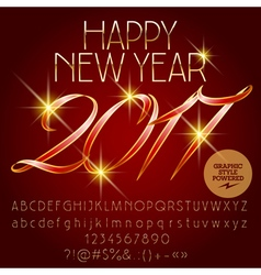 Classic Happy New Year 2017 greeting card vector image vector image