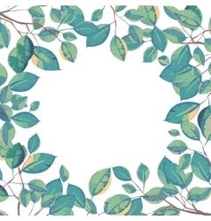frame of leaves Natural background vector image