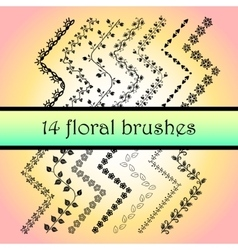 Hand Drawn Ink Brushes vector image