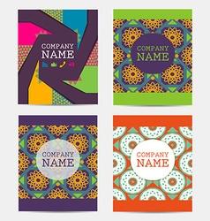 Set of flyer brochure design templates vector image