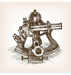 Sextant sketch style vector