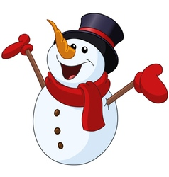 snowman raising arms vector image vector image