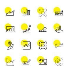 16 profit icons vector image