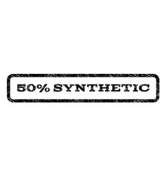 50 percent synthetic watermark stamp vector