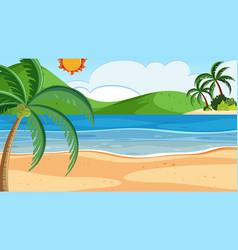 A beach summer background vector