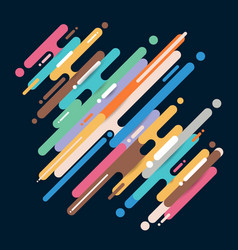 Abstract multicolor diagonal rounded shapes lines vector