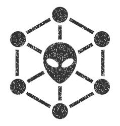 Alien Network Grainy Texture Icon vector