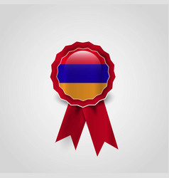 armenia flag ribbon banner vector image