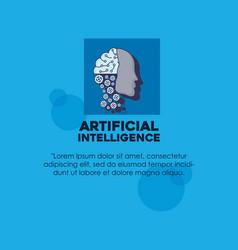 Artifical intelligence design vector