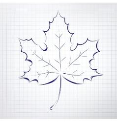 Autumn leaf notepad sketch vector
