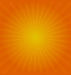 autumn sun rays background red orange and yellow vector image