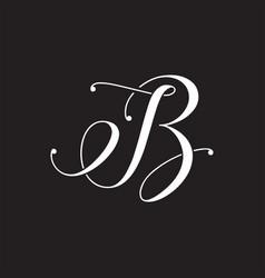 B or ib letter design vector