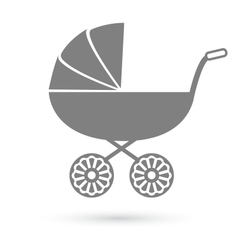 Bacarriage - pram icon isolated on white vector