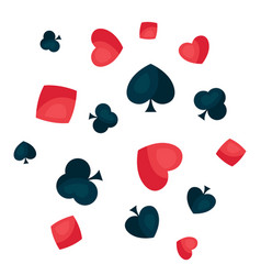 background with four playing cards symbols vector image