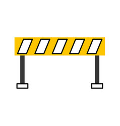barrier traffic equipment warning caution vector image