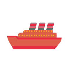 Big ship cruise vector
