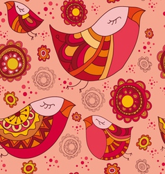 Birdy spring pattern vector