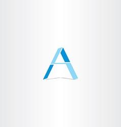 Blue letter a geometric logo design vector