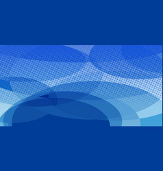 Blue ovals abstract background vector