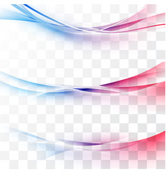 Bright red to blue gradient speed lines vector