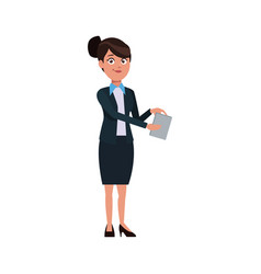 business woman showing paper document vector image