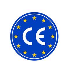 ce marking label european conformity vector image