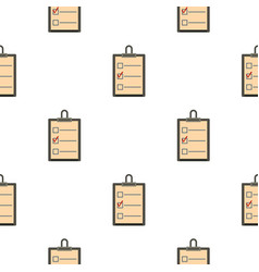 checklist with box and red mark pattern flat vector image